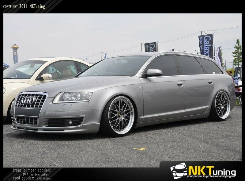 audi a6 c6 pre facelift front bumper spoiler ebay. Black Bedroom Furniture Sets. Home Design Ideas