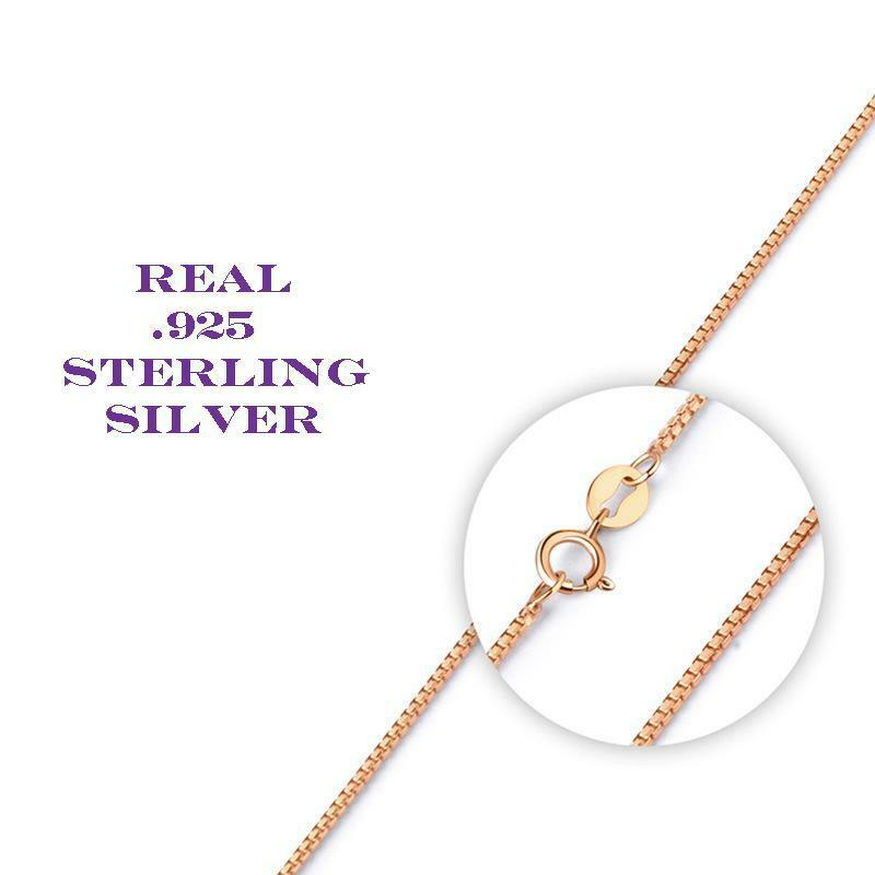 Thin Gold Chain Bracelet: Rose Gold Over Sterling Silver Thin Box Chain Necklace For