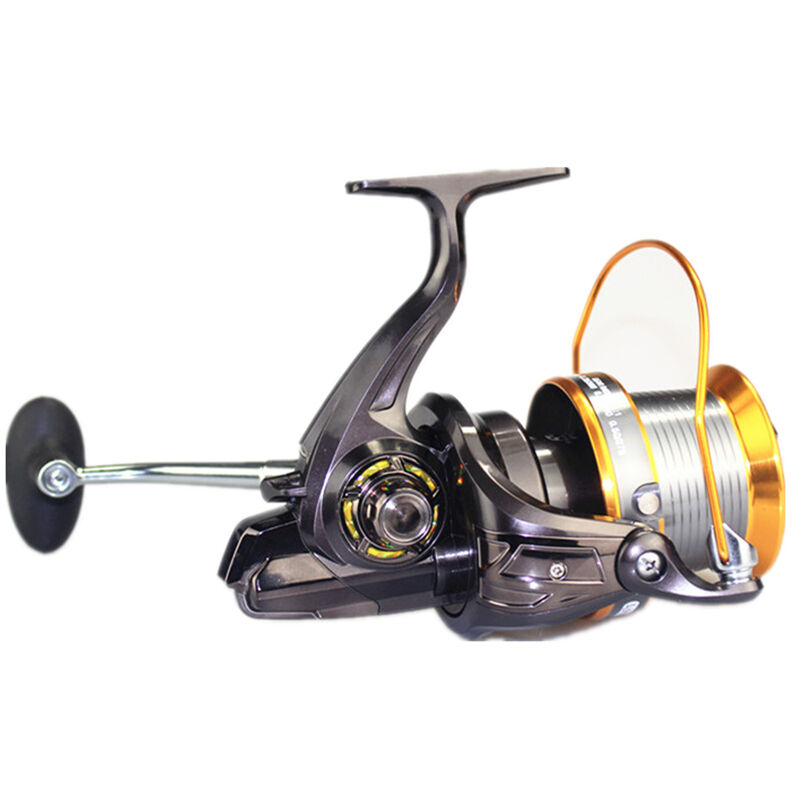 Long spinning reel baitfeeder saltwater surf fishing for Surf fishing reels