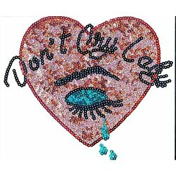 Sequin Patch: ''Don't Cry Lady'' Heart