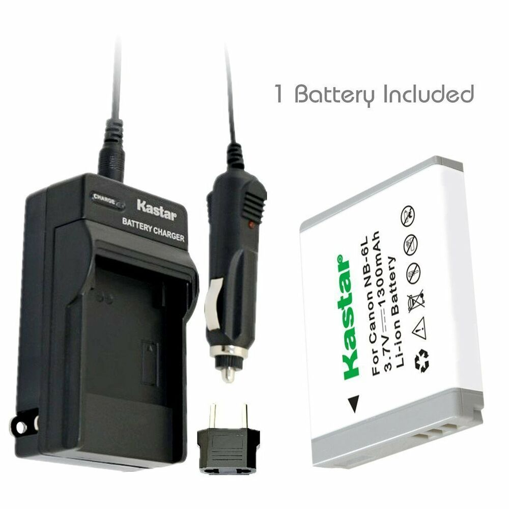 Nb 6l Battery Amp Charger For Canon Powershot Sx280 Hs Sx500