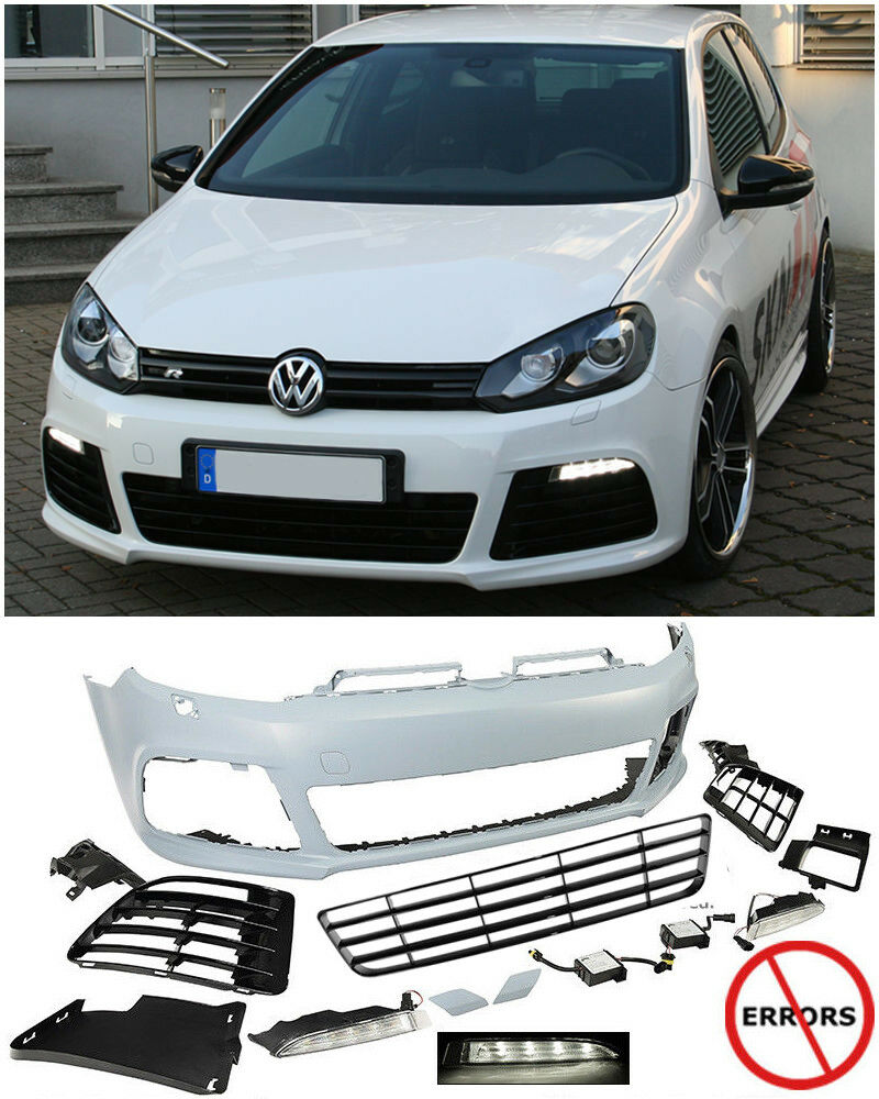 for 10 14 vw golf gti mk6 r20 style front bumper cover. Black Bedroom Furniture Sets. Home Design Ideas