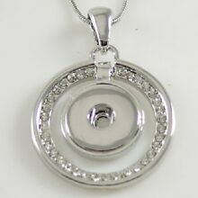 Fits Ginger Snap GINGER SNAPS PENDANT Rhinestone Necklace Magnolia 18mm