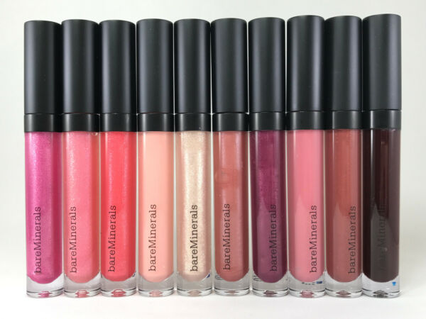 BareMinerals Moxie Plumping Lipgloss 0.15oz /4.5ml CHOOSE FROM 10 COLORS