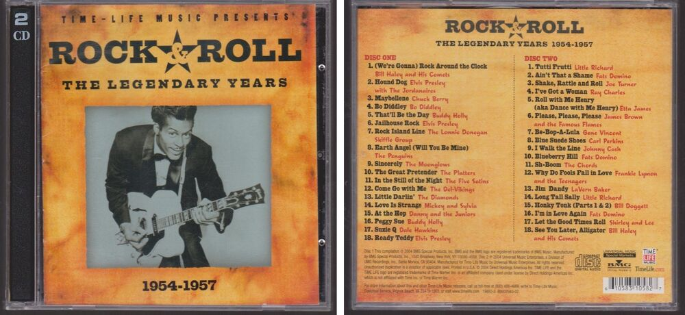 Rock Roll Legendary Years 1954 1957 Various Artists Time Life 2 Cd
