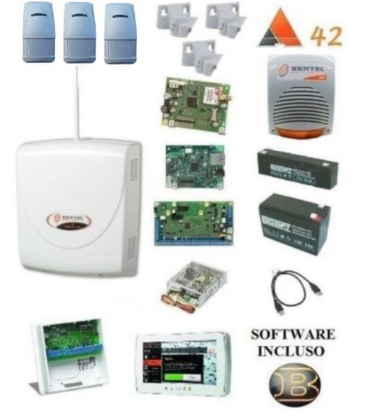 kit absoluta COMPLETO bentel + 3x bmd 504+ IP + M-TOUCH 7