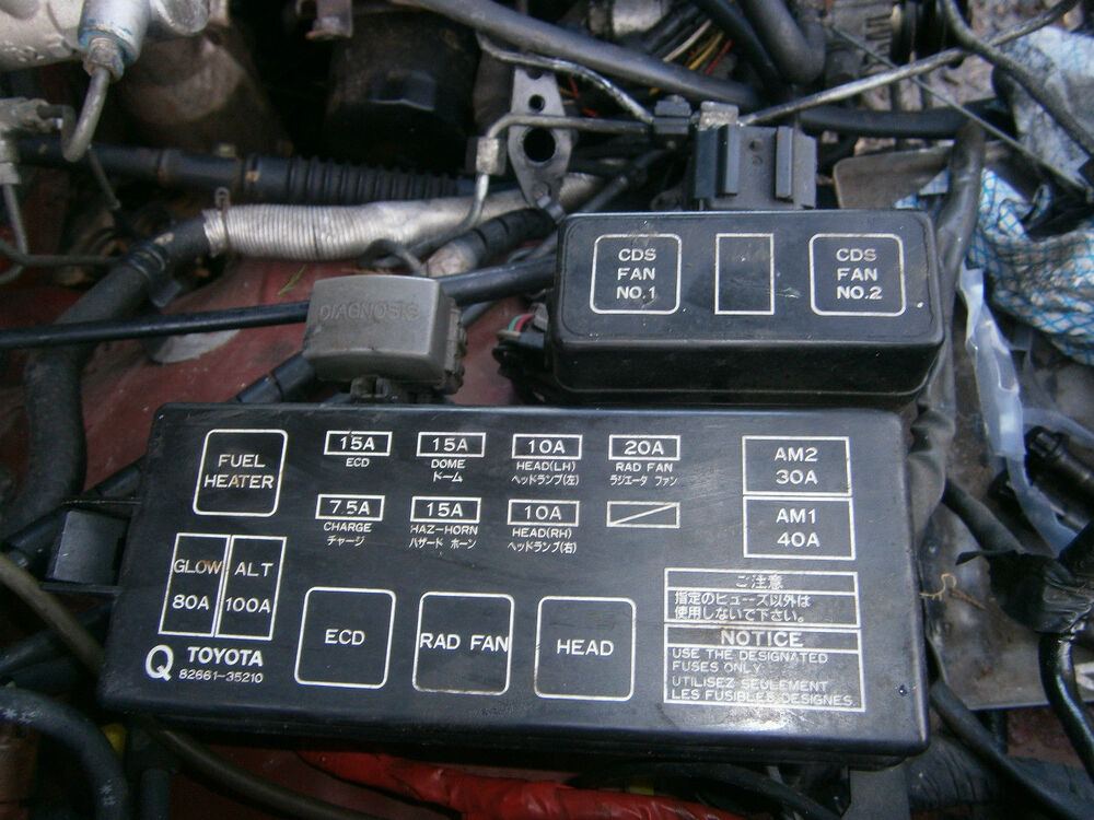 fuse box toyota hilux surf 2 4 3 0 92 to 94 ln 130 kzn130