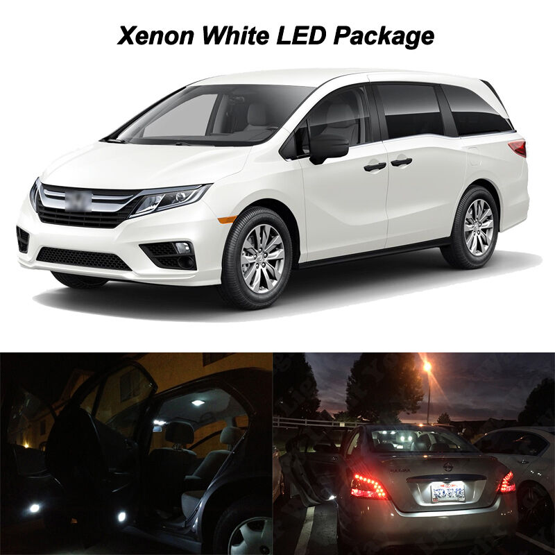 2019 Honda Odyssey: 15 X White LED Interior Bulbs Reverse Light Package For