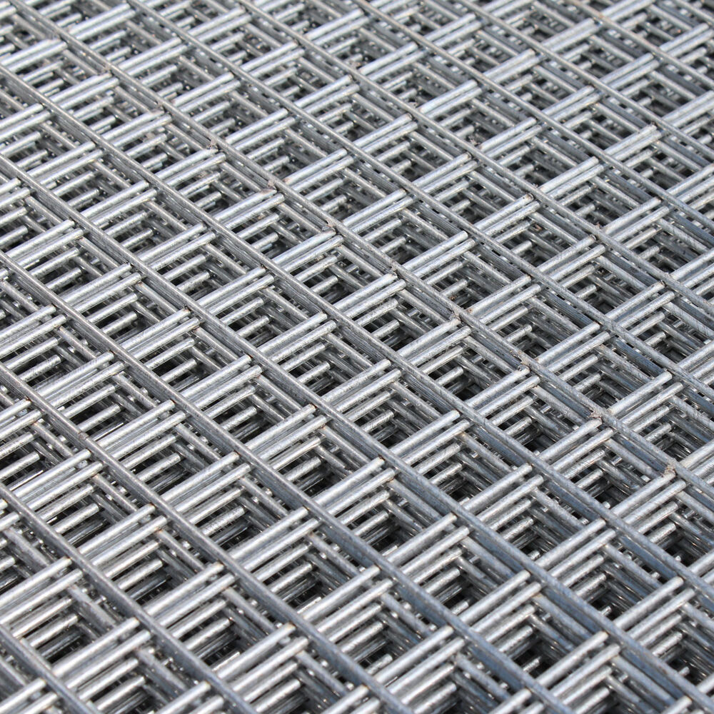 Welded Wire Mesh Panel 6 U0026 39 X3 U0026 39  Galvanised Steel Sheet 1 U0026quot  Hole Metal Grid 12g Fence 5060376434972
