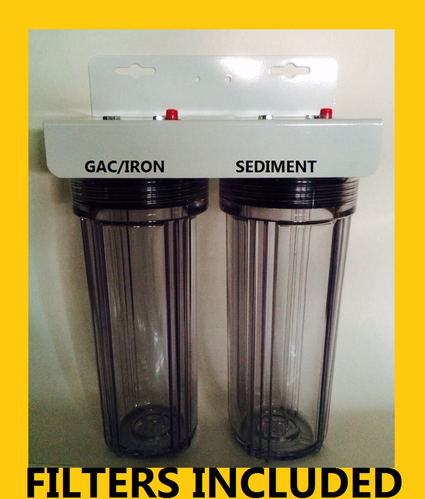 Iron Sulfur Removal Dual Whole House Water Filter System