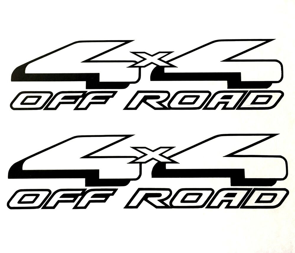 4x4 off road decal sticker 4wd truck bed ford f
