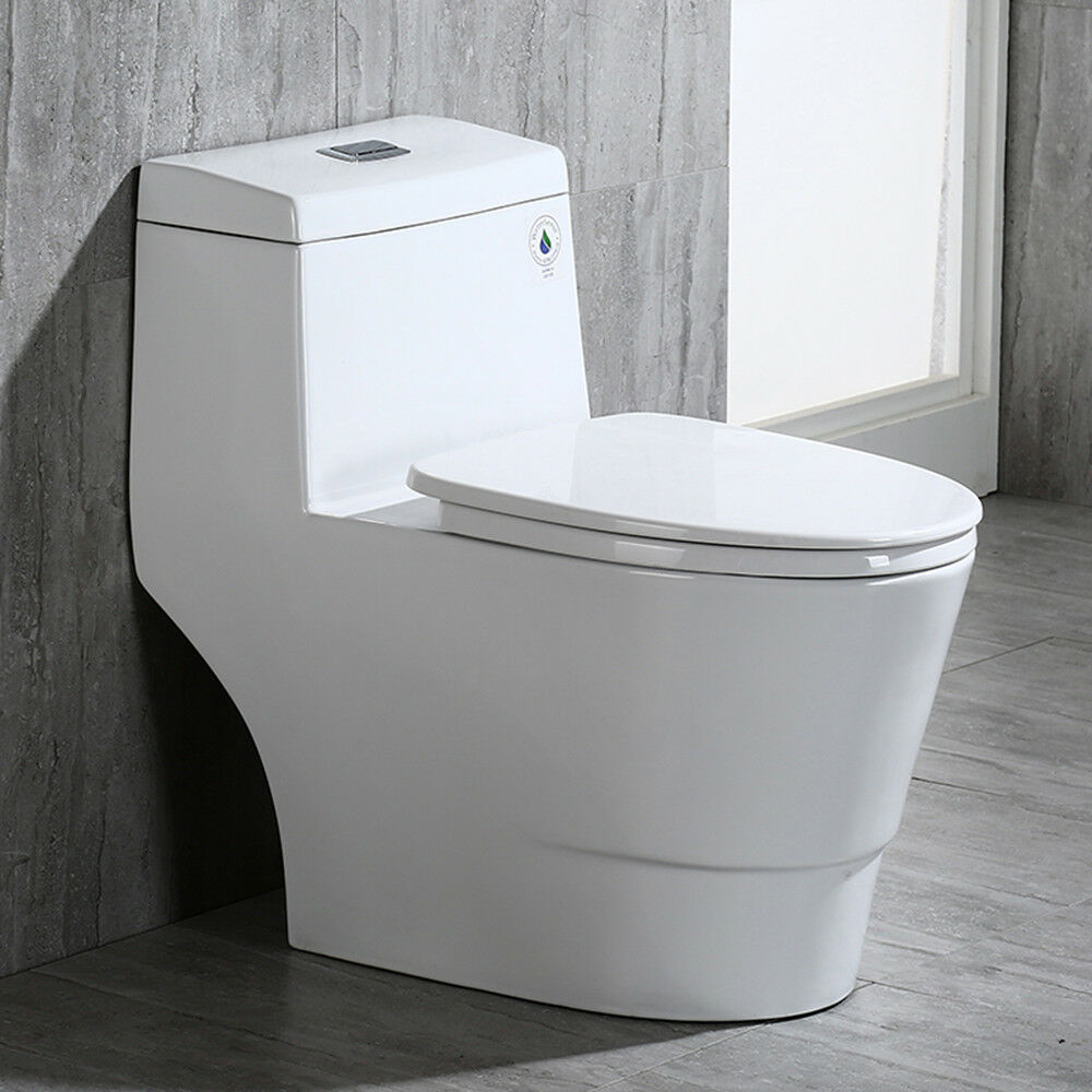 Woodbridge Dual Flush Elongated One Piece Toilet With Soft