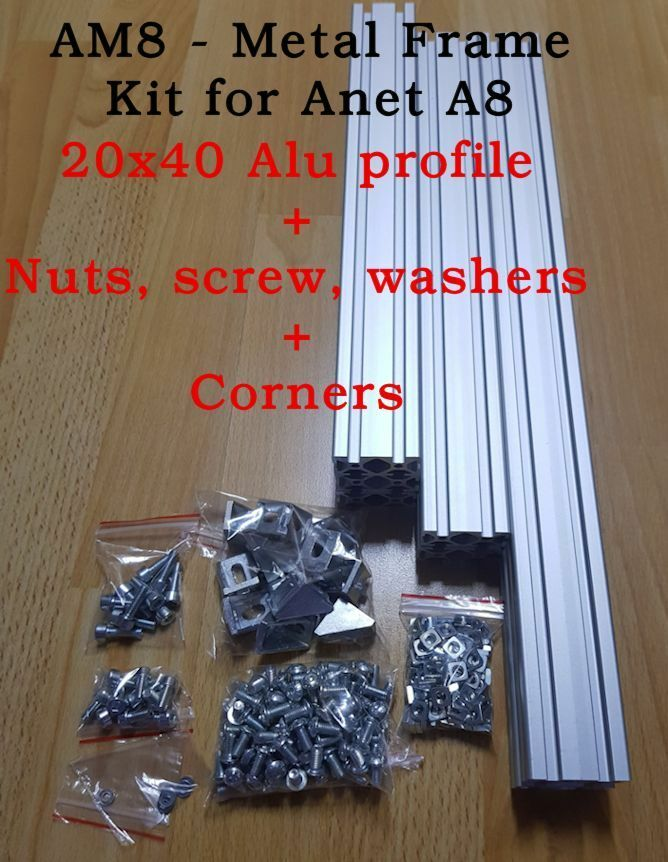 Am8 3d Printer Extrusion Profile Metal Frame Nuts Screw
