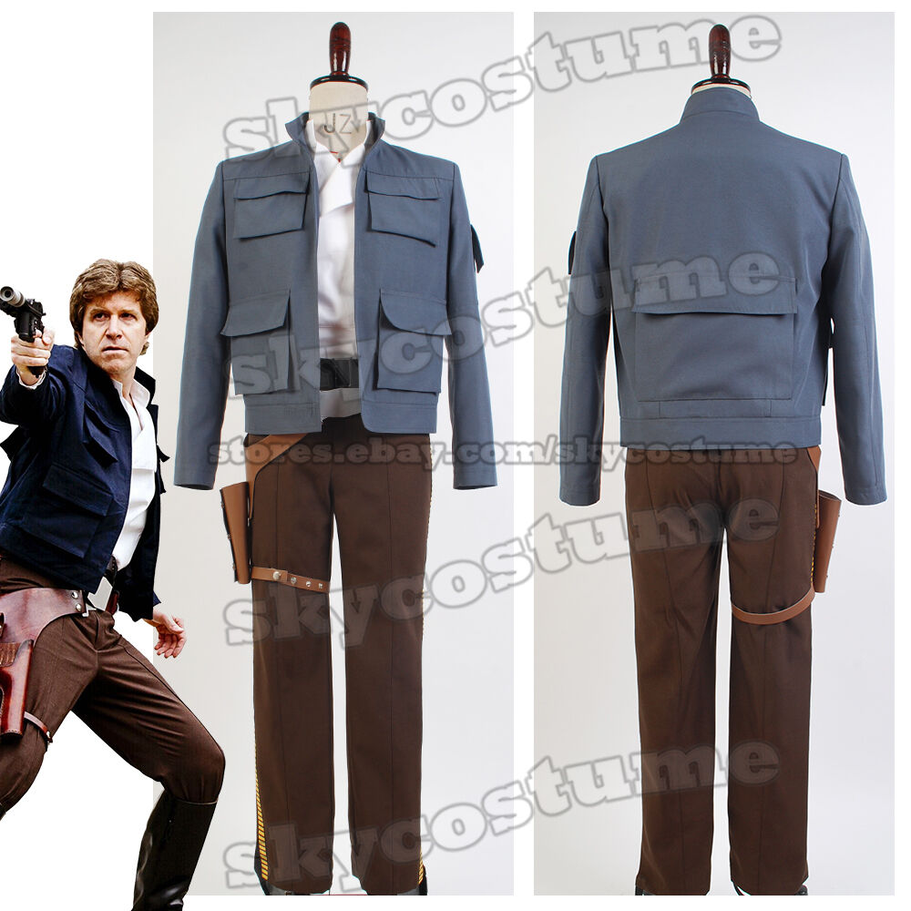 Star Wars Empire Strikes Back Han Solo COSplay Costume Jacket Attire Outfit Suit | eBay