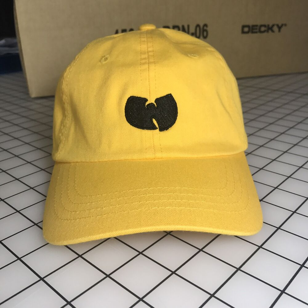 Details about Wu-Tang Dad Hat Unstructured Baseball Cap Yellow Brand New -  Free Shipping 5ee0f02f075