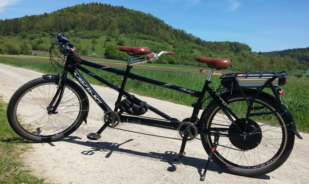 tandem e bike elektrofahrrad tandem fahrrad 1000 watt. Black Bedroom Furniture Sets. Home Design Ideas