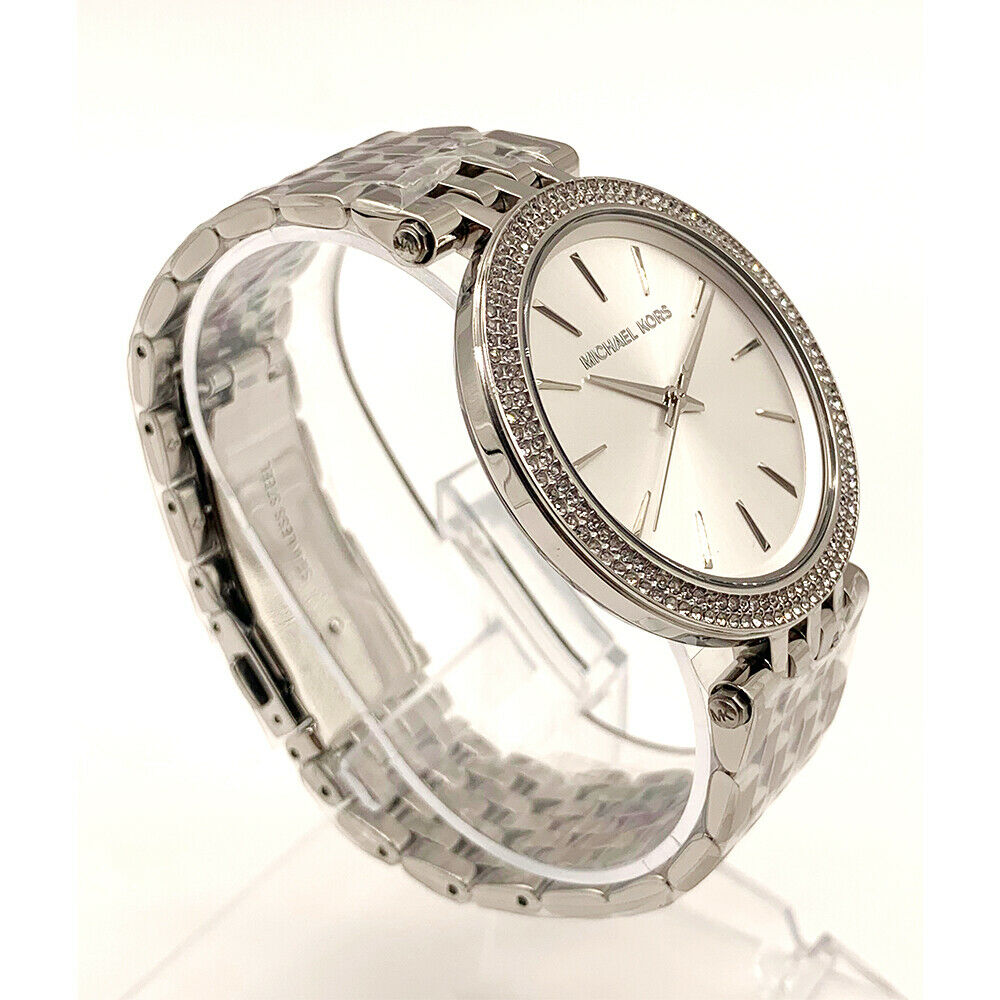3134db71cf16 Details about New Michael Kors MK3190 Women s Darci Silver Stainless Steel  Bracelet Watch