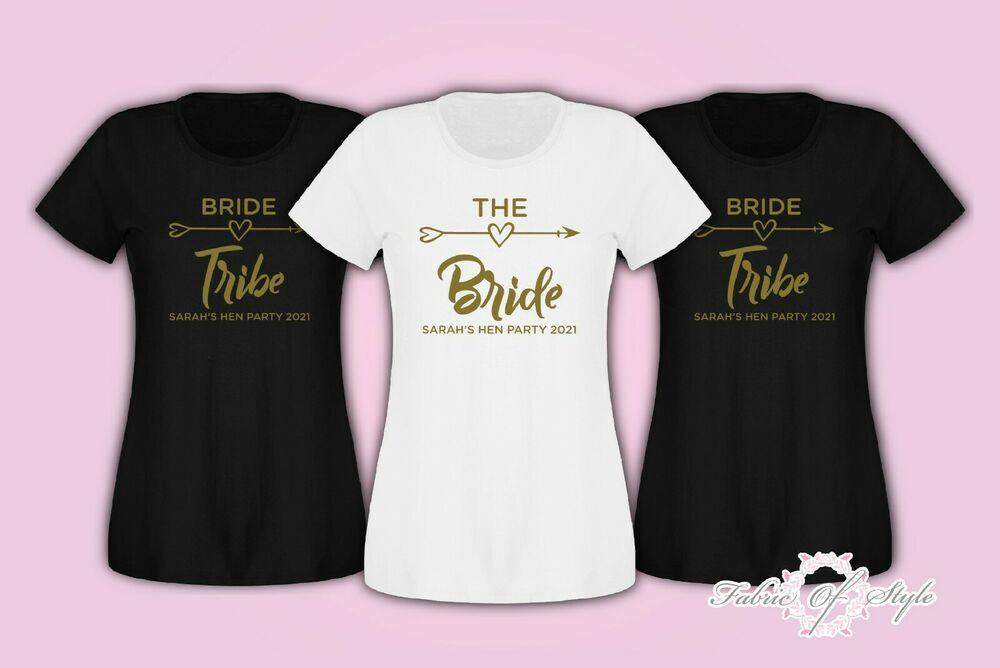 Hen do party bride tribe 2017 2018 custom personalised t for Hen party t shirts