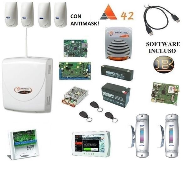 kit absoluta COMPLETO bentel + 4x bmd 503+ IP + M-TOUCH 7