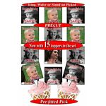 15 Personalised photo picture SQUARE edible birthday cupcake toppers PRECUT 50mm