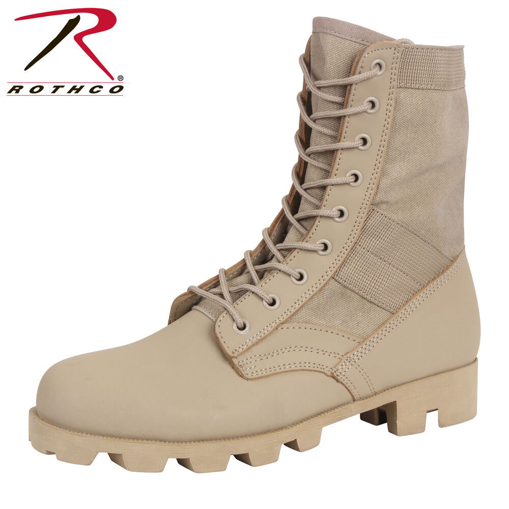 Details about Rothco Classic Military Jungle Boots - Desert Tan Tactical  Boot d766d96d244