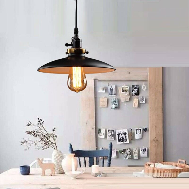 Black Ceiling Lamp Kitchen LED Lighting Bar Vintage
