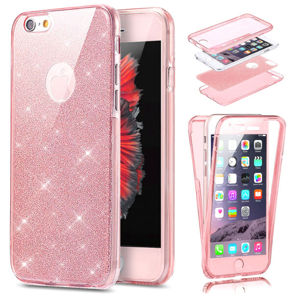 COQUE HOUSSE Blingbling 360 PROTECTION INTEGRAL PAILLETTES IPHONE 8/7/6/S/5/SE/X