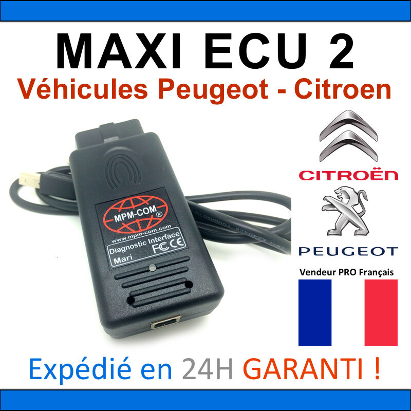 maxiecu 2 mpm com valise diagnostic peugeot et citroen diag pp box obd2 ebay. Black Bedroom Furniture Sets. Home Design Ideas