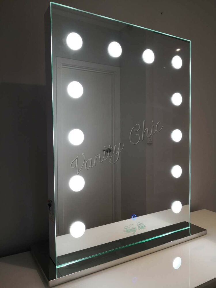 Frameless Hollywood Makeup Mirror With Lights Vanity Make