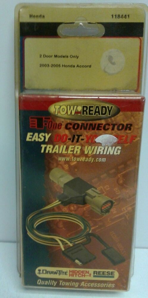 details about 118441 tow-ready trailer wiring harness 03-05 honda accord 2  door models only