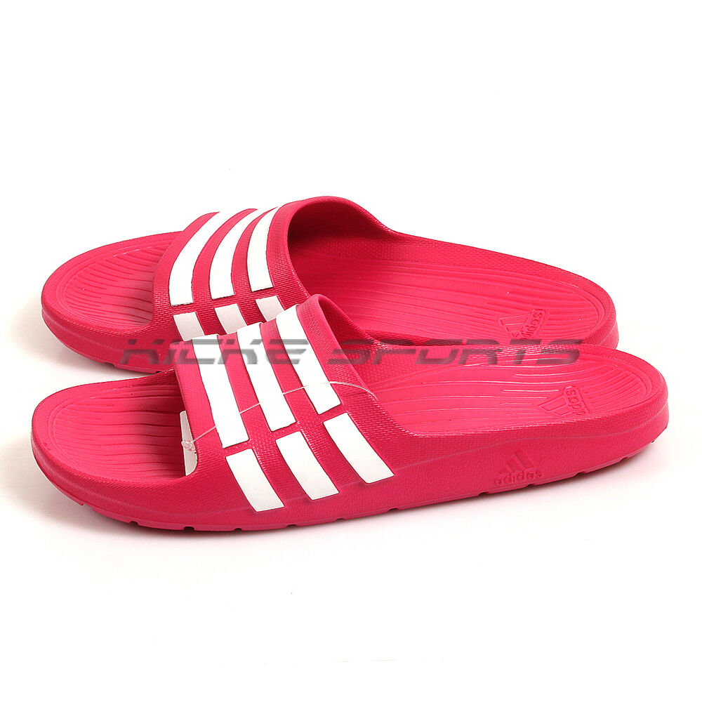 6746f9132 Details about Adidas Duramo Slide K Bold Pink White Kids Youth Sports  Sandals Slippers G06797