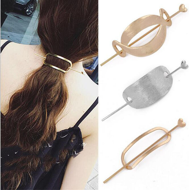Womens Girls Unique Vintage Hair Clasp Clips Hairpin Stick ...
