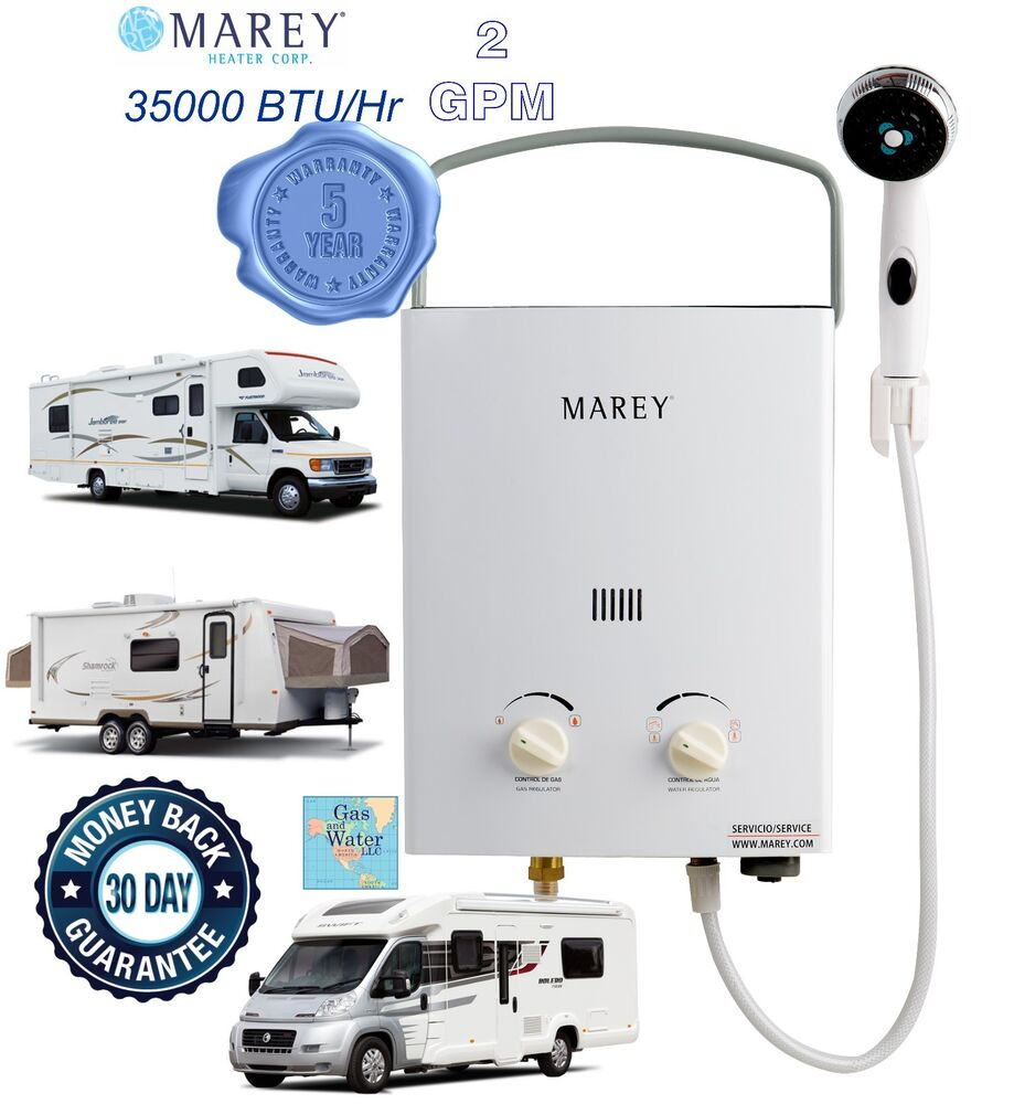 Portable Tankless Water Heater Marey 2gpm Rv S Amp Campers
