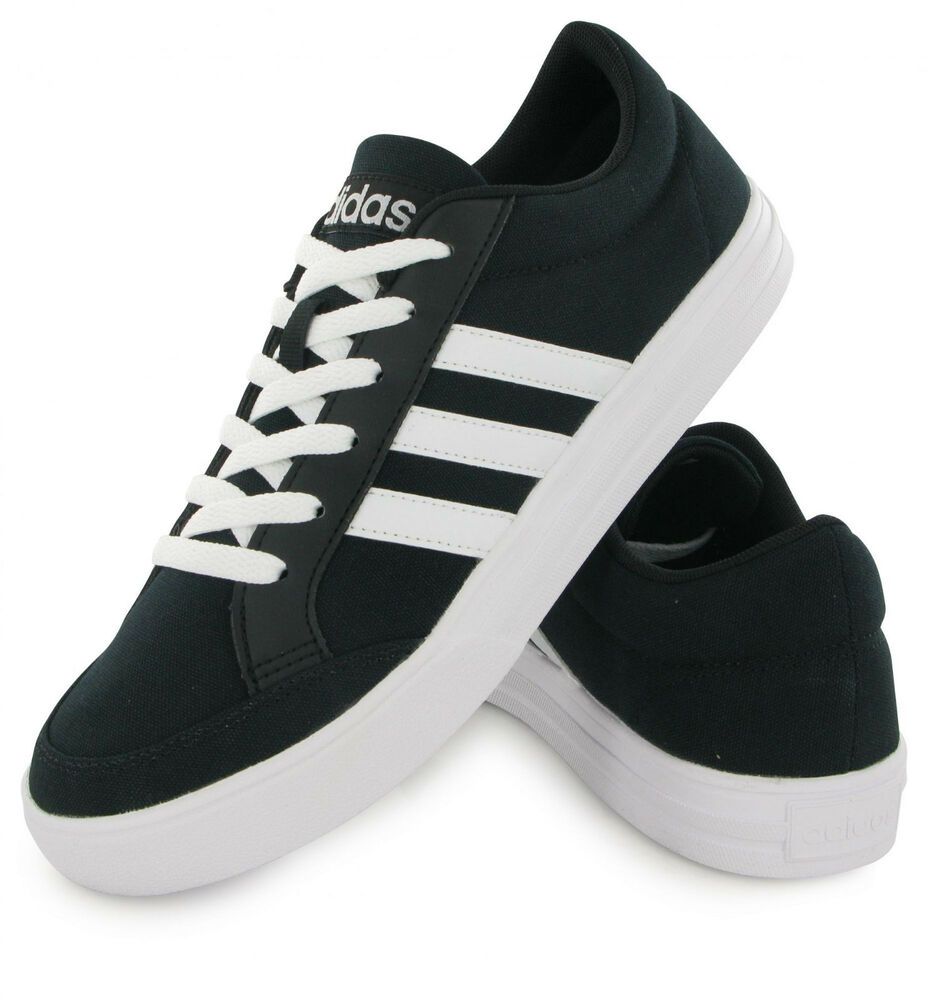 lowest price 100e7 3a850 Details about Adidas Neo Shoes Mens VS Set Black Casual Sneakers 3 Stripes  Sports AW3890 New