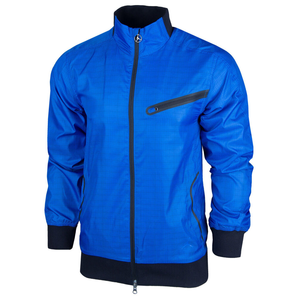 160db1ebf757 Details about NIKE AIR JORDAN MEN S BLUE WINDBREAKER JACKET FULL ZIP TRACK  23 JUMPMAN S M