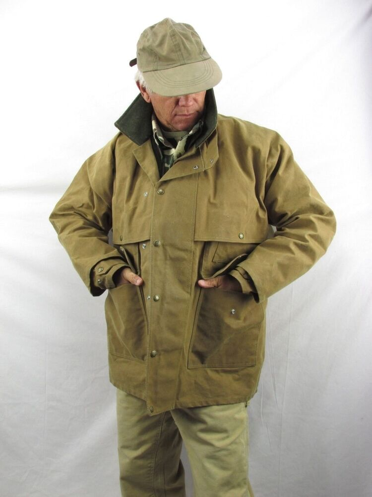 Filson Tin Cloth Packer Coat Water Resistant Wool Lined