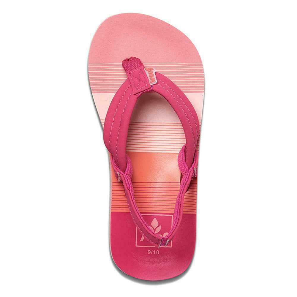 3c511aafbc76 Details about Reef Girls Little Ahi Sandals Pink Stripes Reef Girls  Shoes