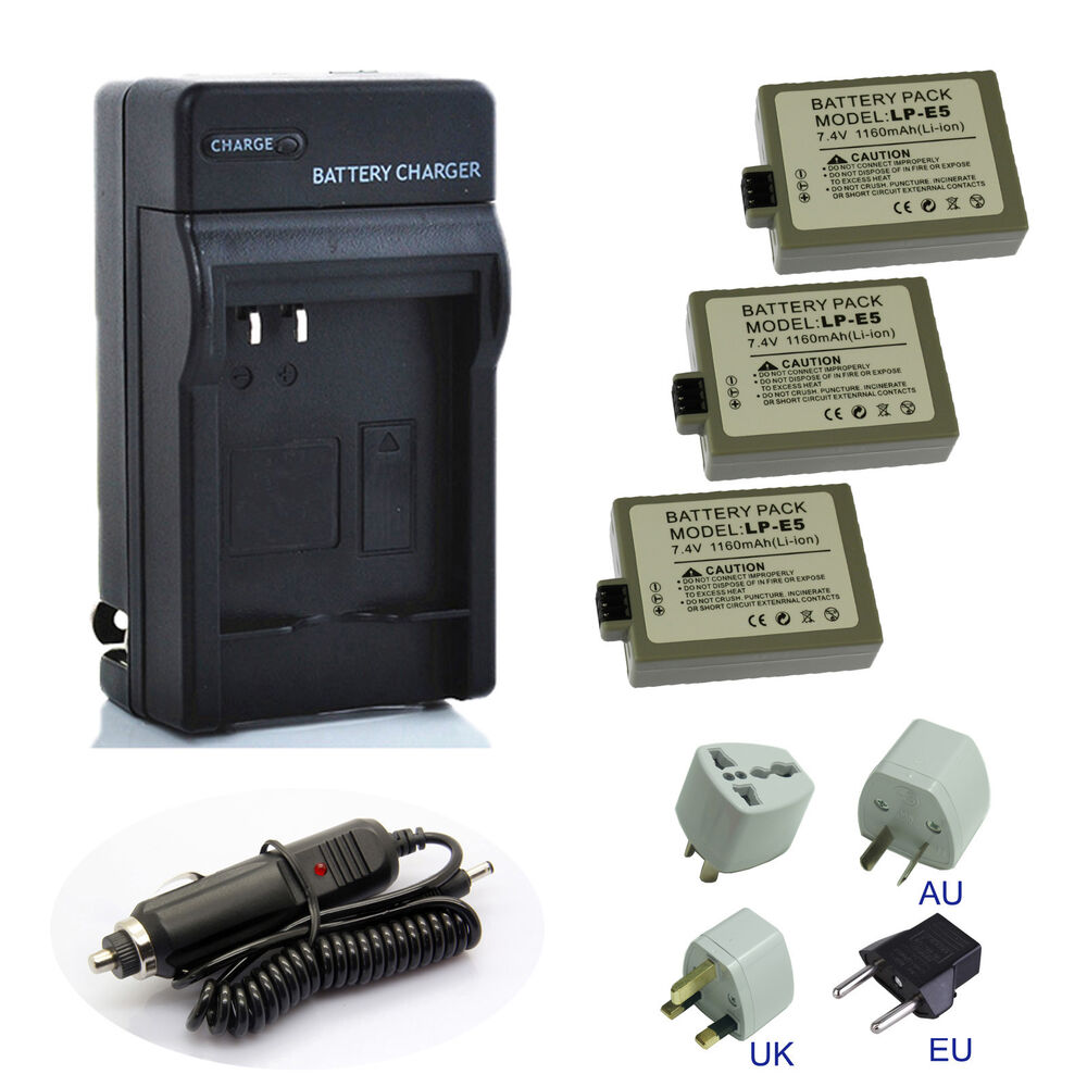 Full-for Canon Eos 450d 500d 1000d Camera Battery Lp-e5 Charger Low Price Accessories & Parts Consumer Electronics