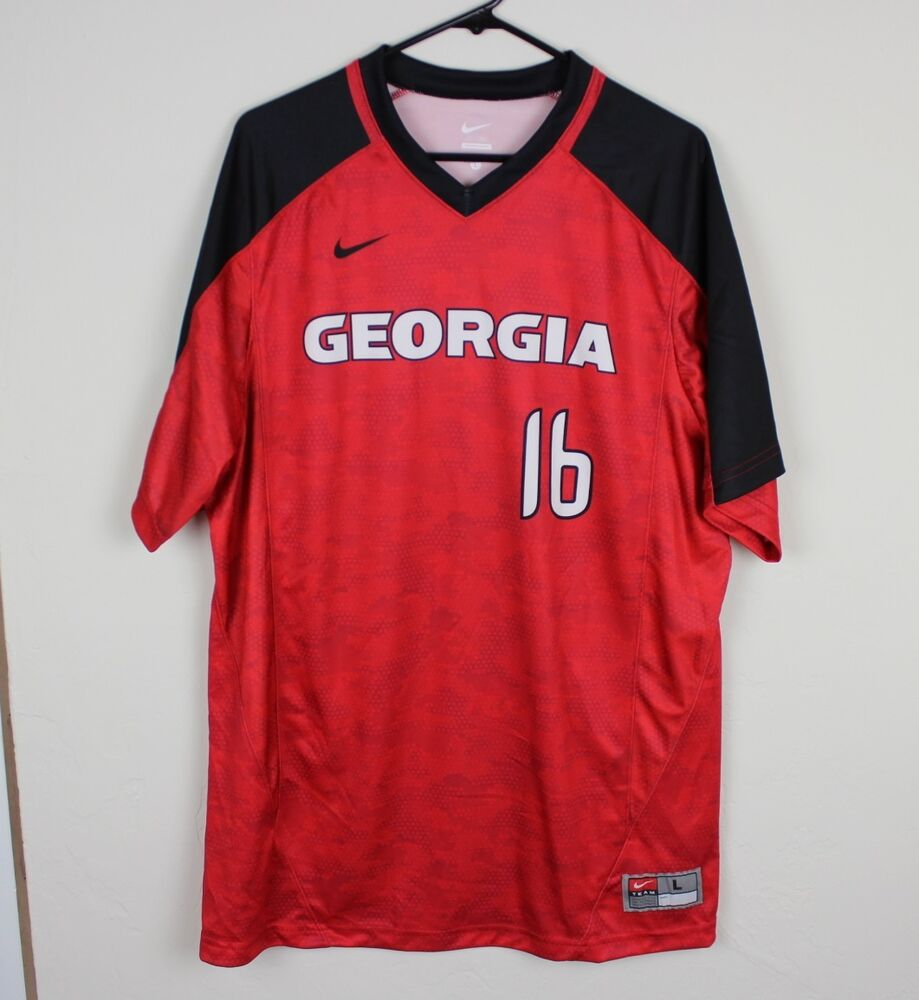 5df69d101 Details about New Nike Mens Large Georgia Bulldogs Vapor Game Shirt  Baseball Jersey Red  16