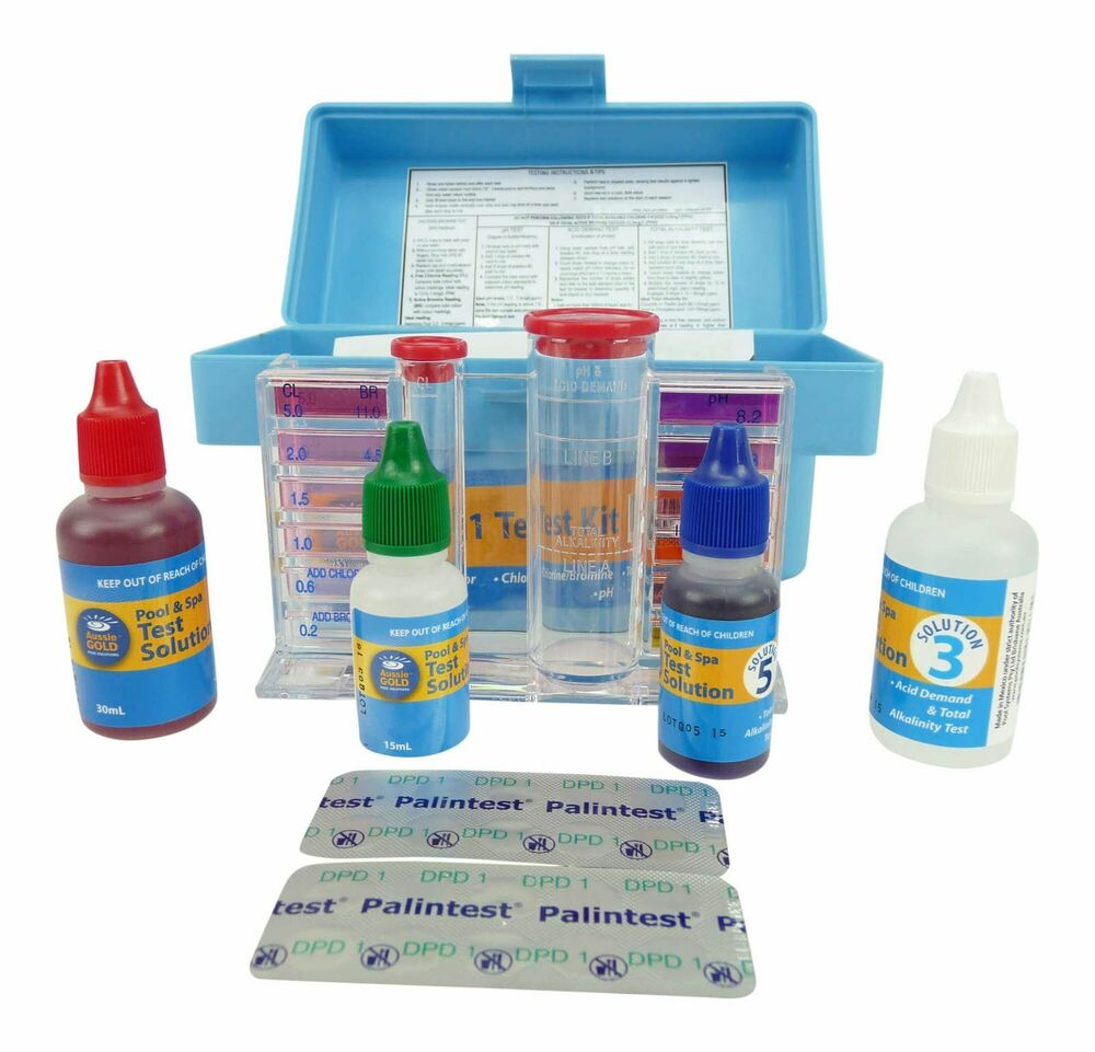 4in1 test kit swimming pool spa water professional test kit chlorine bromine 9320600030797 ebay. Black Bedroom Furniture Sets. Home Design Ideas