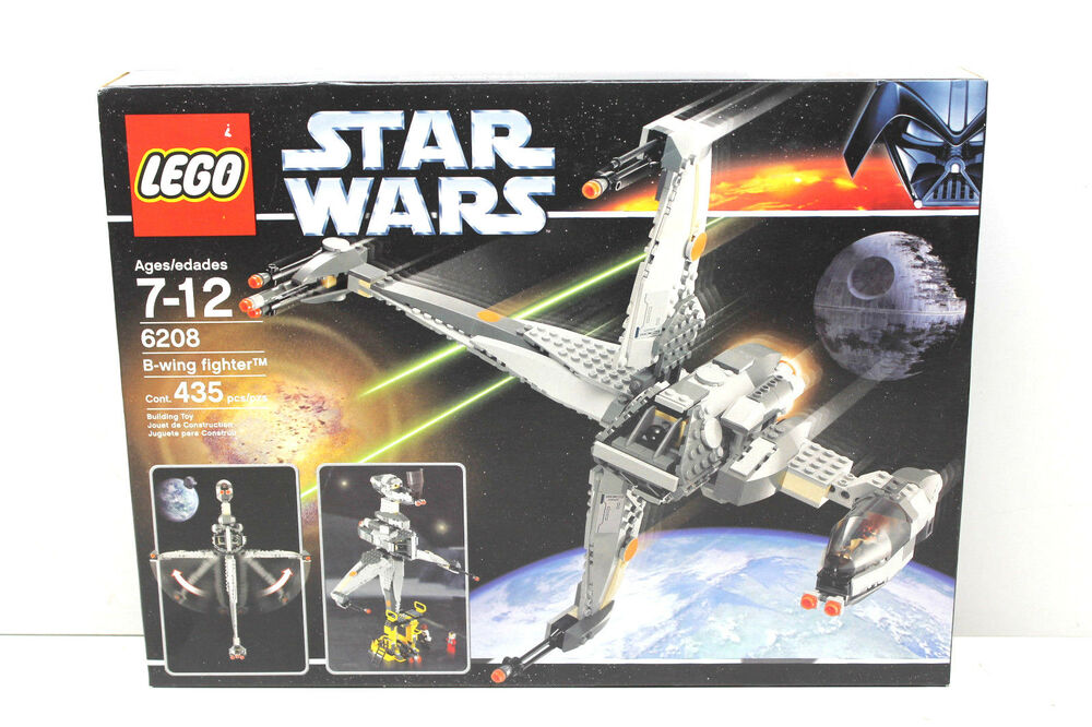 Lego 6208 Star Wars B Wing Fighter 2007 Factory Sealed 435 Pcs