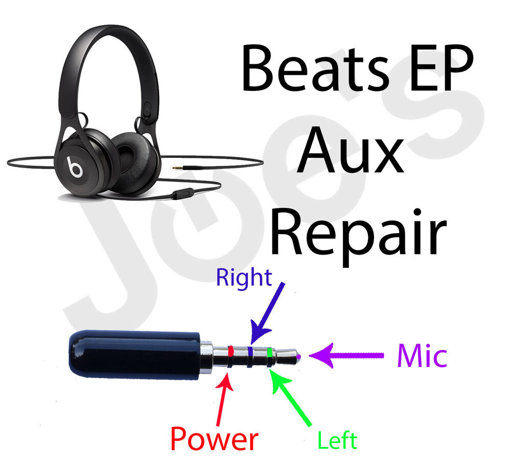 SERVICE Beats by Dre EP Headphones Repair 3.5MM Audio Jack ...