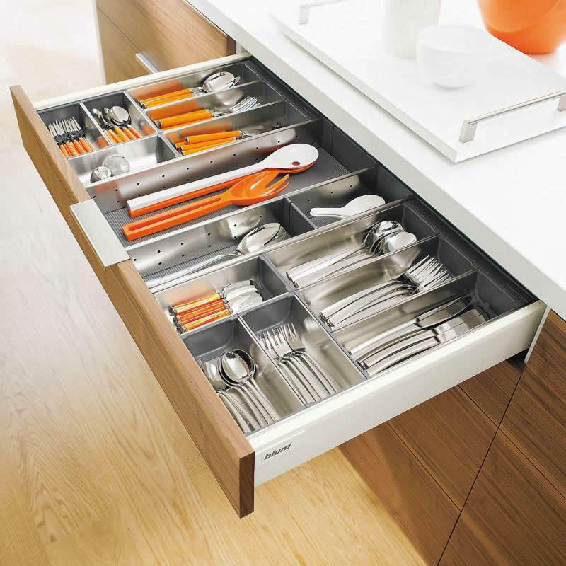 Blum Orga Line Cutlery Inserts Multiple Options For Blum