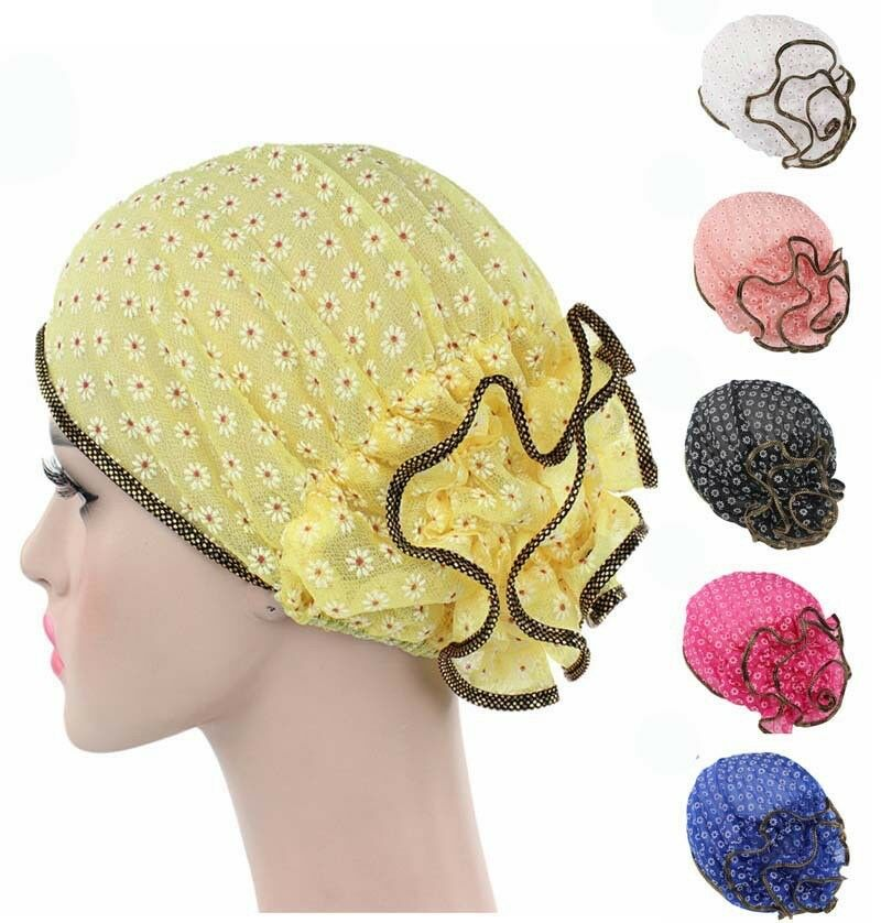 7d809992225 Details about Women Lady Floral Printed Skullies   Beanies Hat Sleep Caps  Turban Chemo Bandana