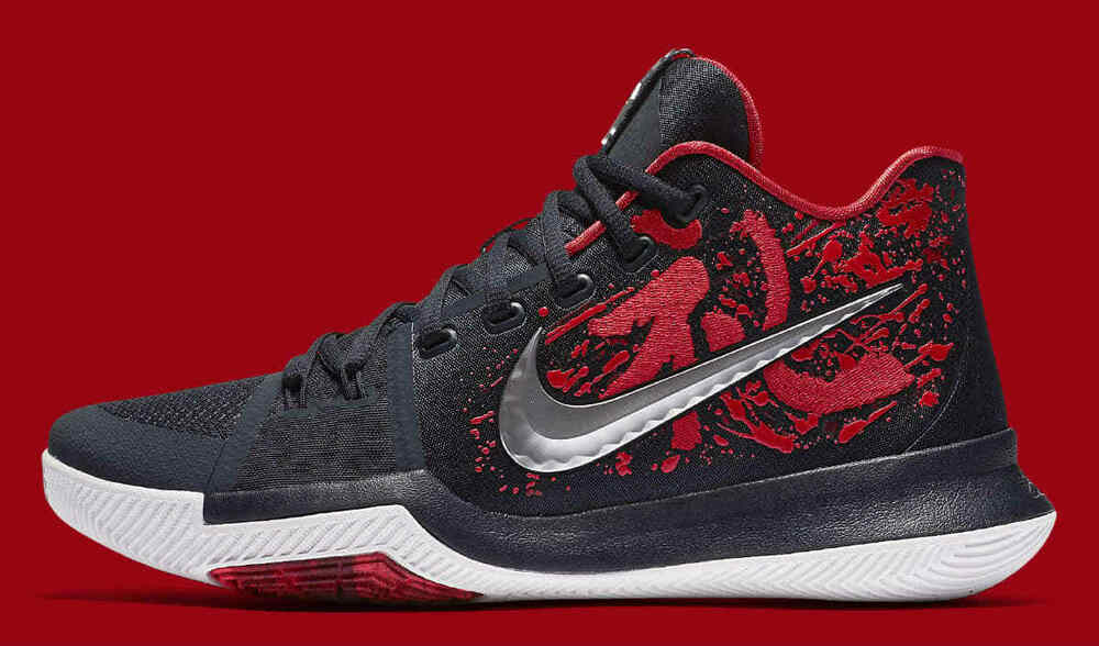 607fe0d0688 Details about Nike Kyrie 3 Samurai Christmas Mystery Release QS Size 16.  852395-900 Black Red