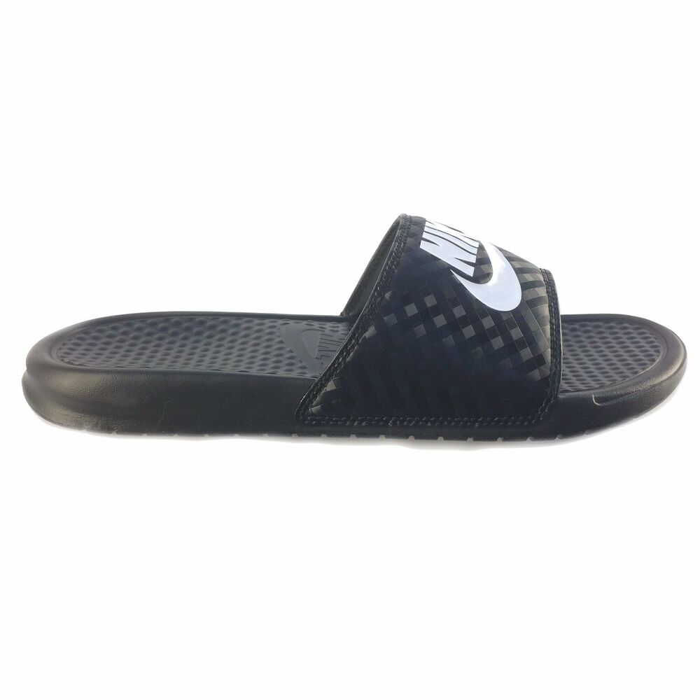 4f36dc7a6 Details about Nike Wmns Benassi JDI Black White Sandals  Slippers  343881-011 Size 10