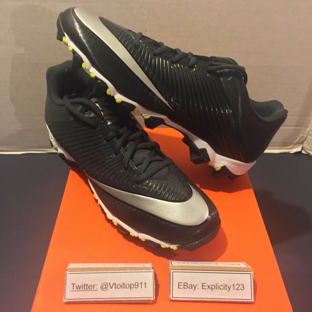 new style c5552 f646a Details about Men s Nike Vapor Shark 2 Football Cleats New  833391-002   Black 100% Authentic