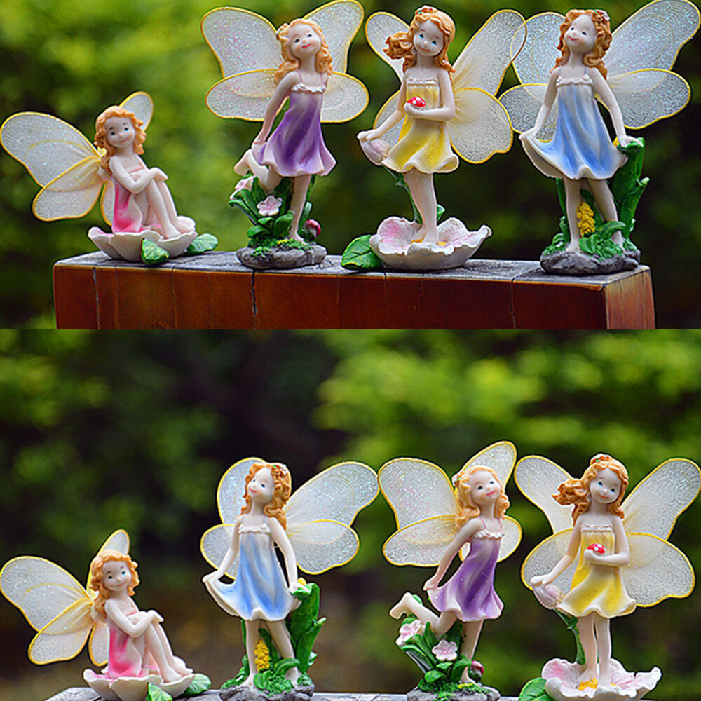 Buy Doll Furnishing Articles Resin Crafts Home Decoration: Miniature Fairy Dollhouse Bonsai Garden Flower Pixie