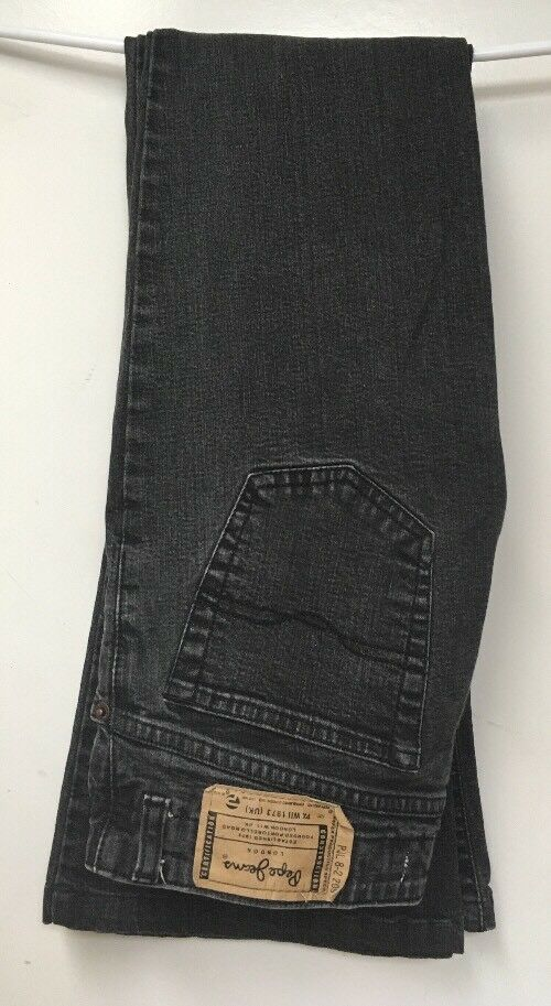 d9760c4e829d Authentic Pepe London Boot Cut Flare Bottom Black Gray Denim Jeans Women 30  x 32   eBay