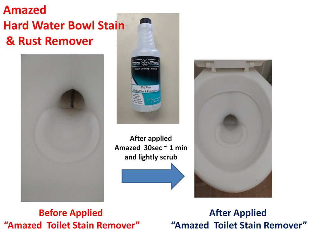 Amazed Hard Water Toilet Bowl Stain Rust Removal RING OUT Cleaner ...
